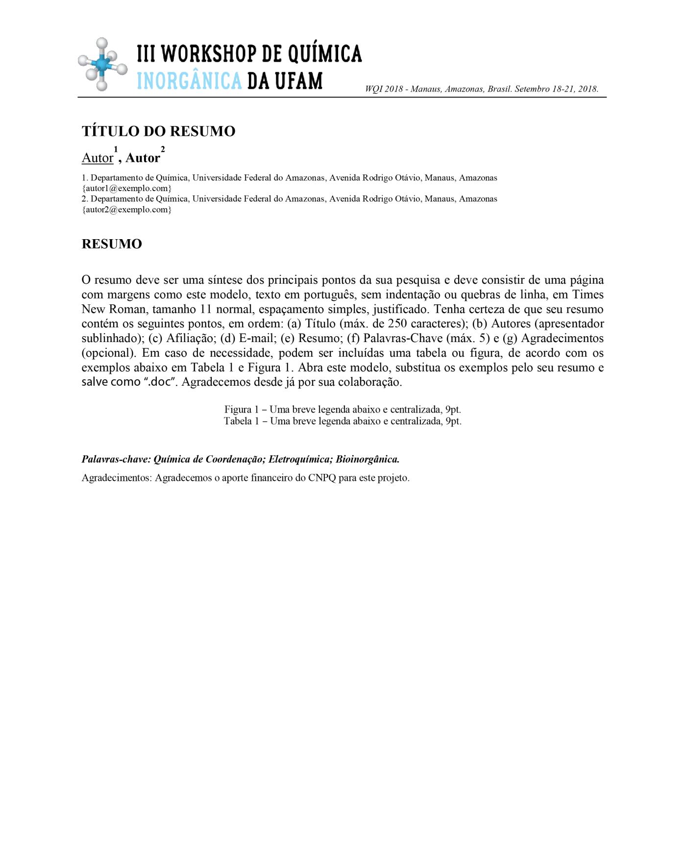 Modelo Resumo WQI-01